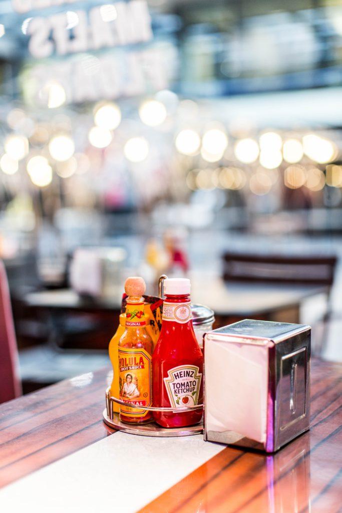 Lektorat Text Berlin Website Christian Wöllecke Werbelektorat Beschriftung einer Ketchupflasche: Nur die Schreibung Ketchup ist korrekt.